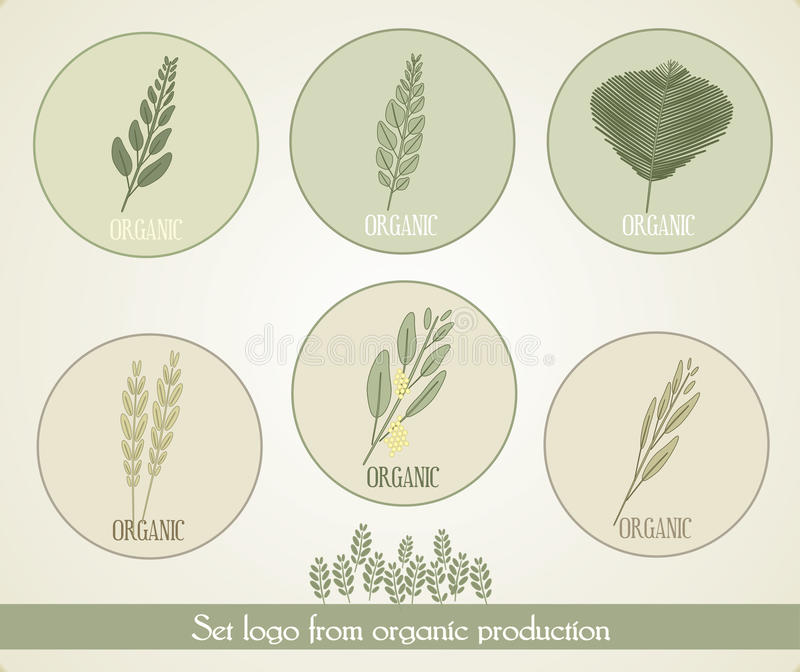 Ajuste a produção orgânica do formulário do logotipo, vetor ilustração do vetor