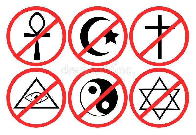 Ajuste a proibição da religião ilustração royalty free