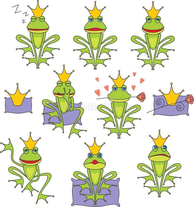 Ajuste a râ do príncipe ilustração royalty free