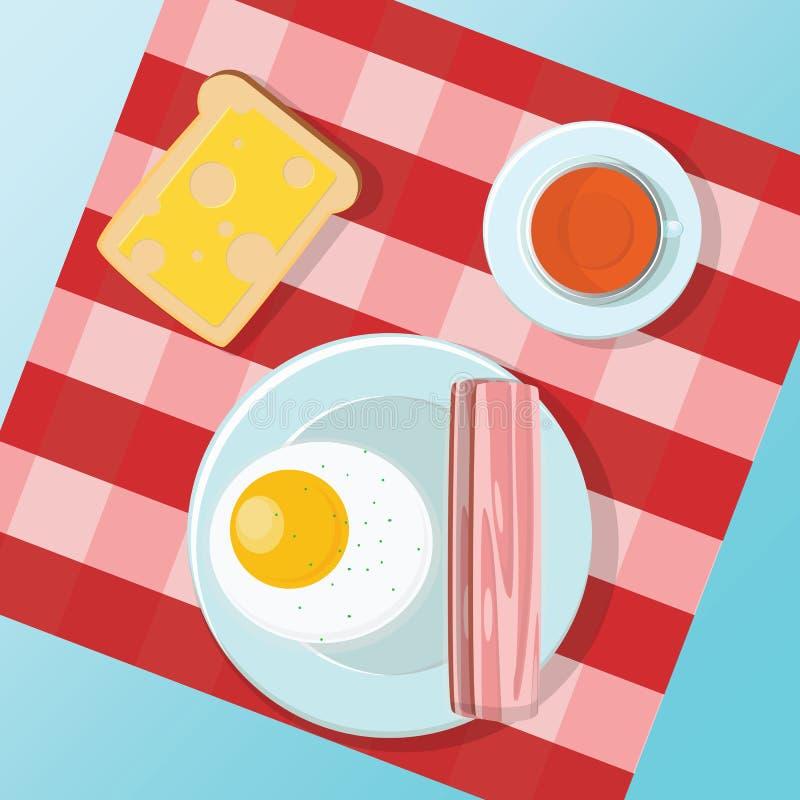 Ajuste um café da manhã pequeno ilustração royalty free