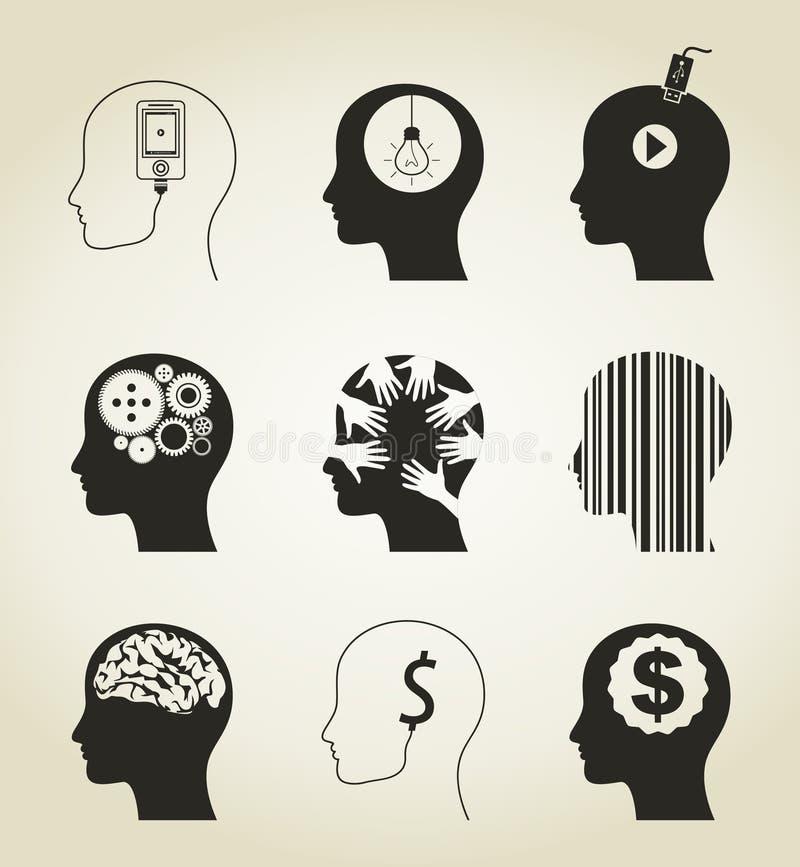 Ajuste uma cabeça  ilustração stock