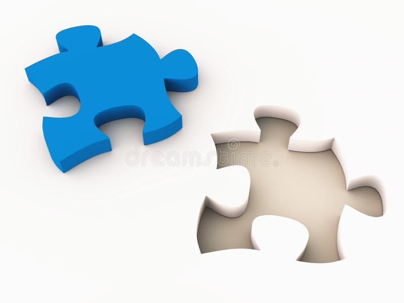 Ajustement de puzzle denteux illustration de vecteur