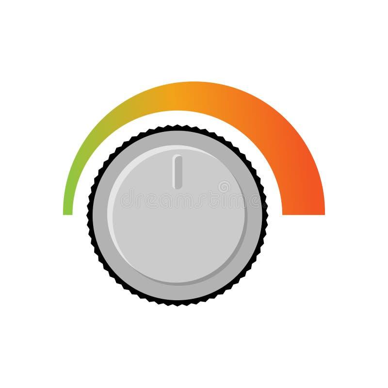 Ajustement du volume Niveau sonore Niveau de volume changeant d'audio illustration libre de droits