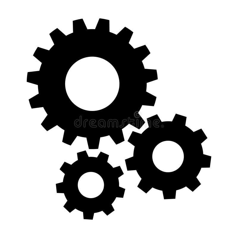 Ajustes ícone, vetor do ícone da engrenagem, ilustração do símbolo da engrenagem Para sites nosso móbil ilustração do vetor
