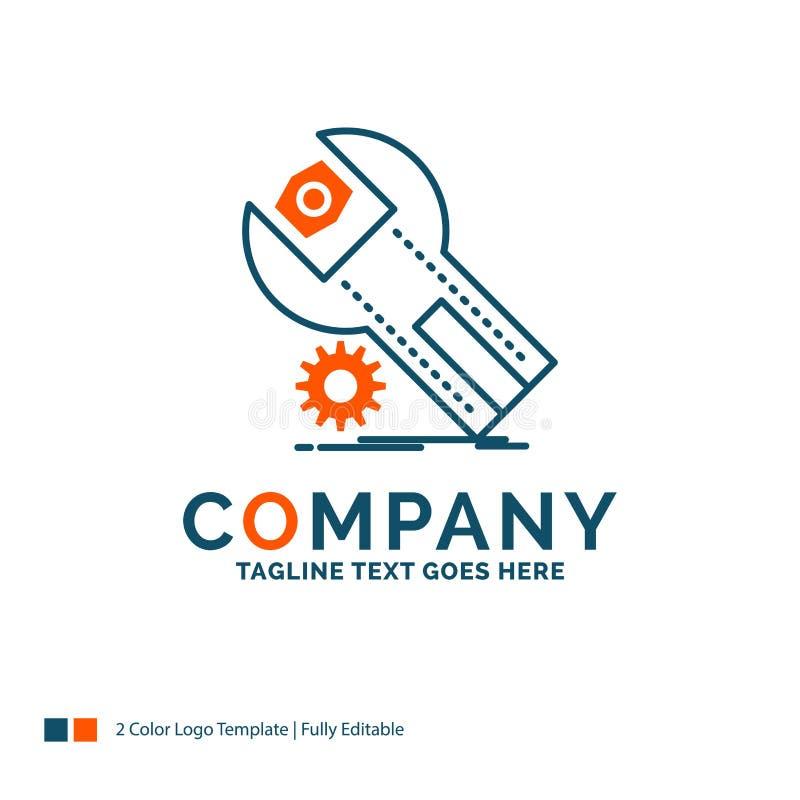 ajustes, App, a instalação, manutenção, serviço Logo Design B ilustração do vetor