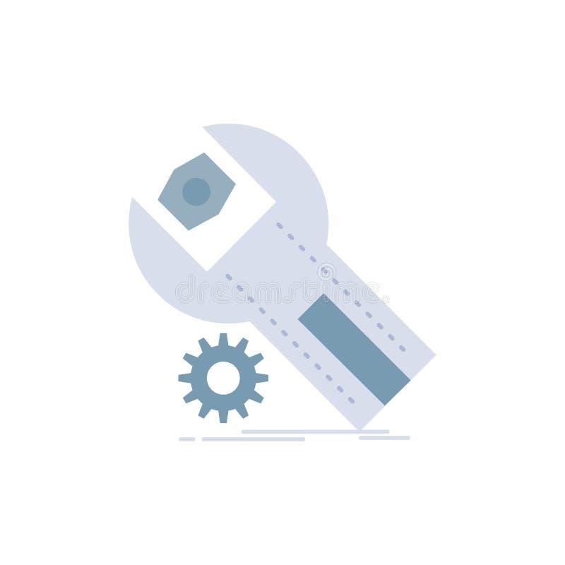 ajustes, App, a instalação, manutenção, vetor do ícone da cor do plano de serviço ilustração royalty free