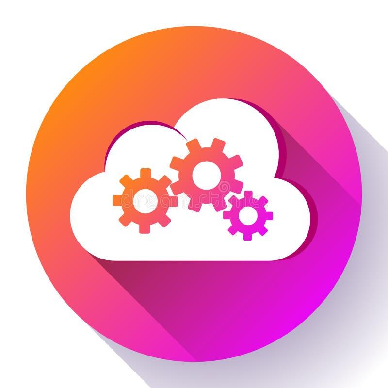 Ajustes da nuvem de Logo Vetora da engrenagem de Logo Cloud Services Cloud Computing da nuvem ilustração royalty free