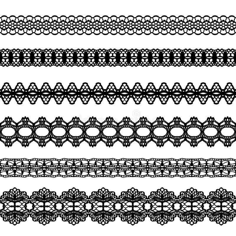 Ajustes de encaje del vintage ilustración del vector