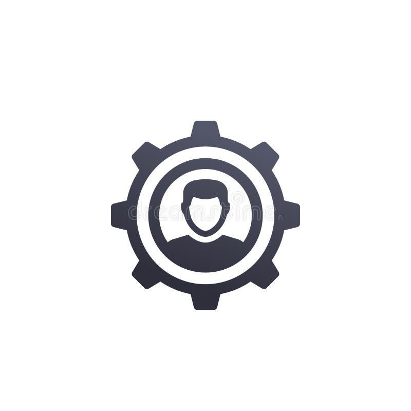 Ajustes de la cuenta, icono de la configuración del perfil stock de ilustración