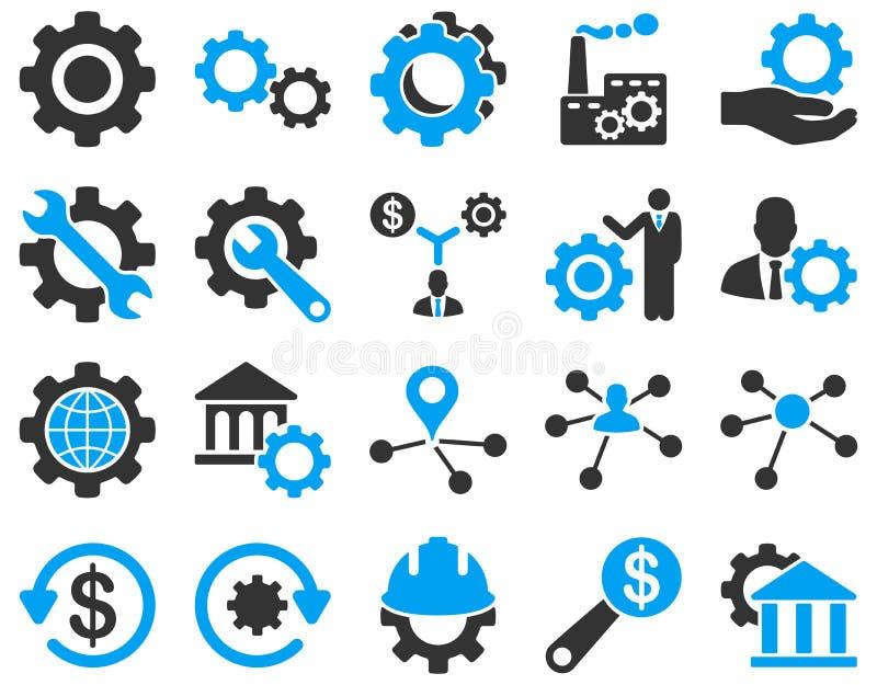 Ajustes e iconos de las herramientas ilustración del vector