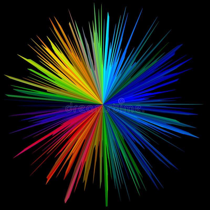 Ajustez le centre lumineux de fond noir illustration de vecteur