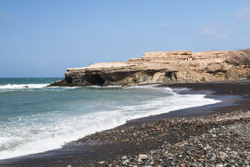 Ajuy海滩,费埃特文图拉岛 免版税库存图片