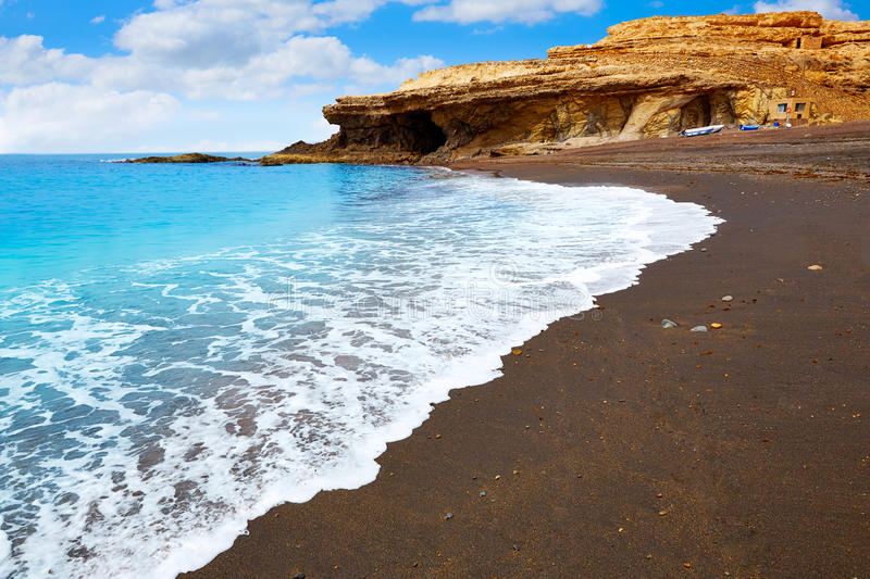 Ajuy beach Fuerteventura at Canary Islands. Of Spain stock images