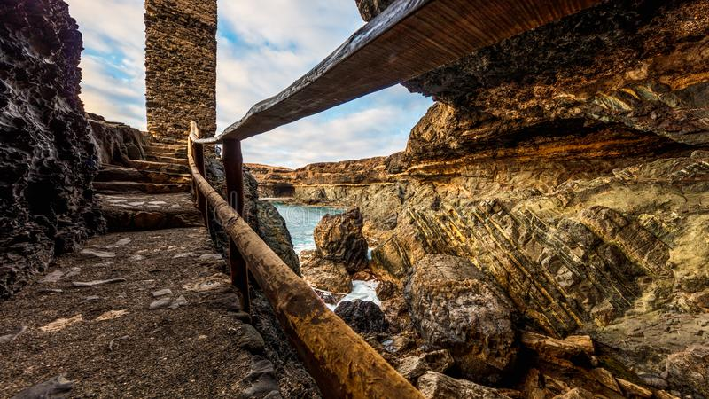 Ajuy-Höhle, Fuerteventura lizenzfreies stockfoto