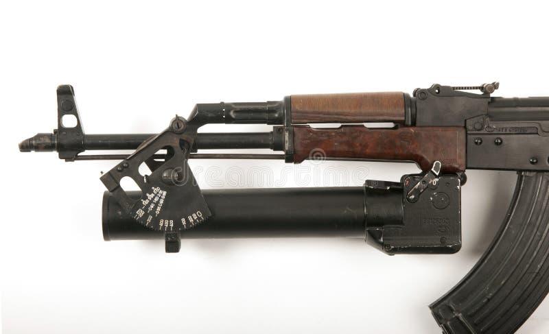 AK-47枪榴弹发射器 免版税库存照片