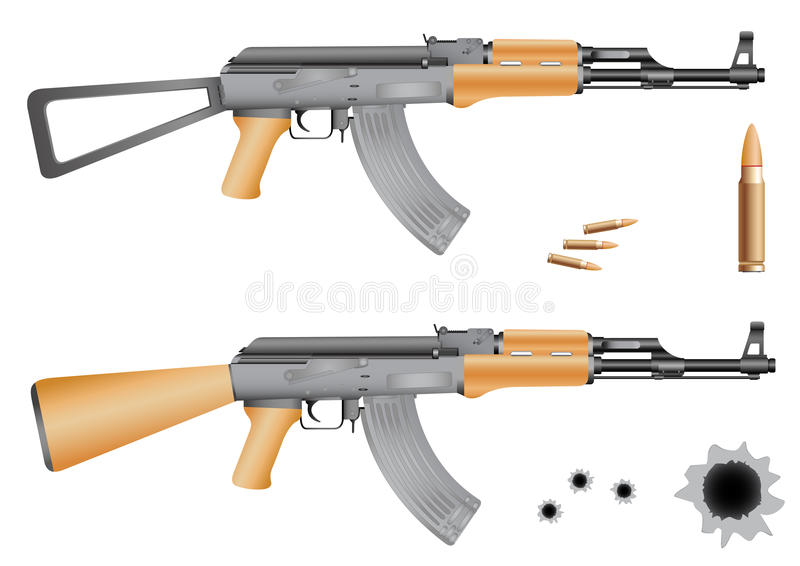 Ak-47 illustration stock