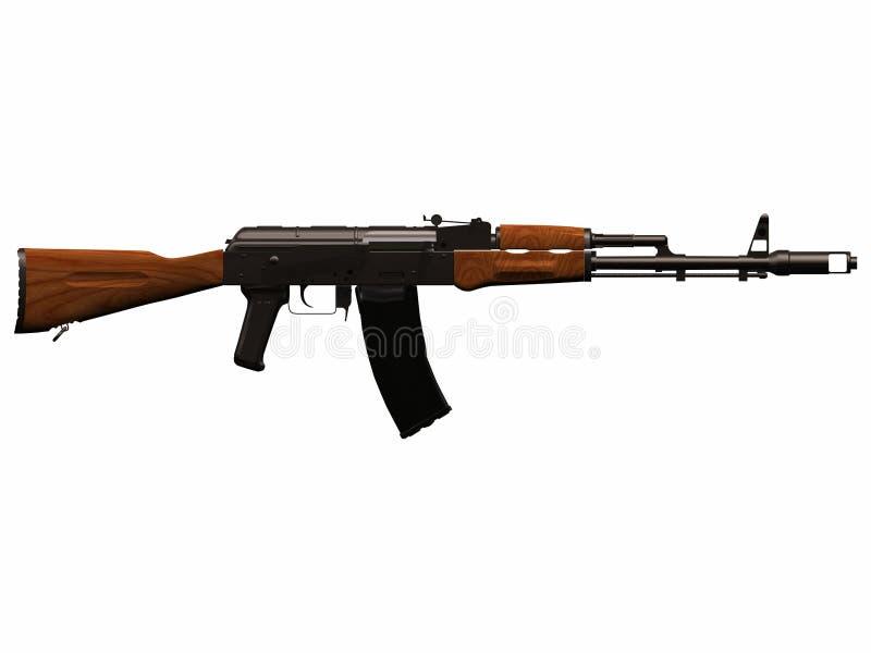 AK-74 Assault Rifle 3d royalty free stock photo