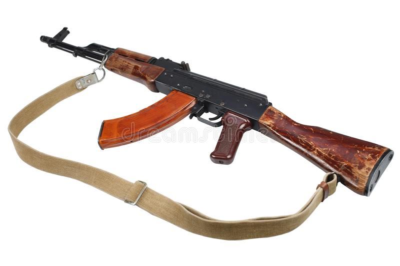 AK - 47 (AKM) assault rifle isolated on white. AK - 47 (AKM) assault rifle stock photo