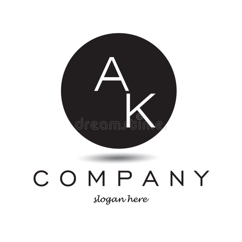 Download AK-Buchstabe Moderner Logo Circle Design Business Concept Stock Abbildung - Illustration von luxus, identität: 90232453