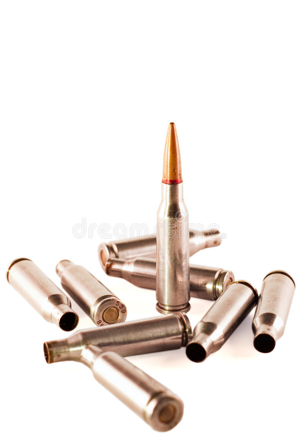 Download AK bullet and shells stock photo. Image of military, dangerous - 8548818