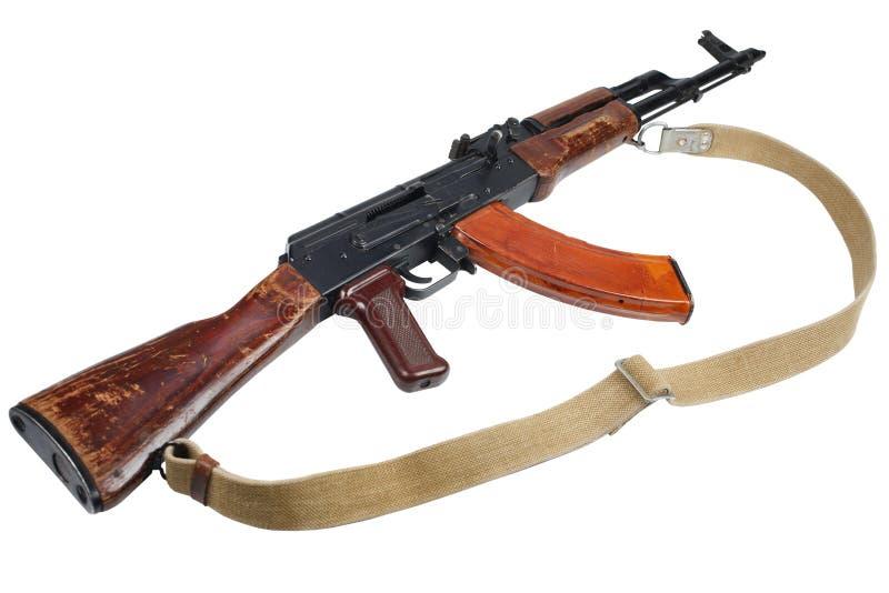 AK - 47 gevär för anfall som (AKM) isoleras på vit arkivfoton