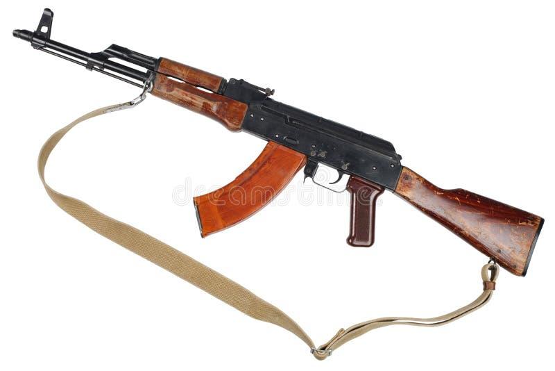 AK - 47 gevär för anfall som (AKM) isoleras på vit arkivbild