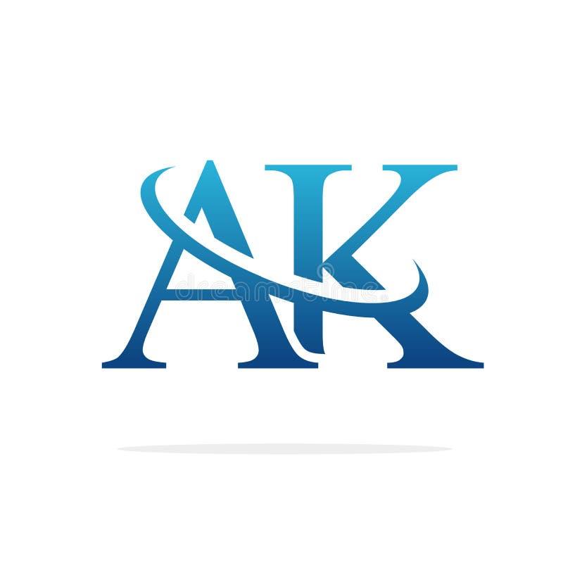 AK het creatieve vectorart. van het embleemontwerp stock illustratie