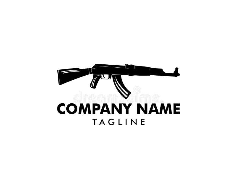 AK 47 logo szablonu projekt royalty ilustracja