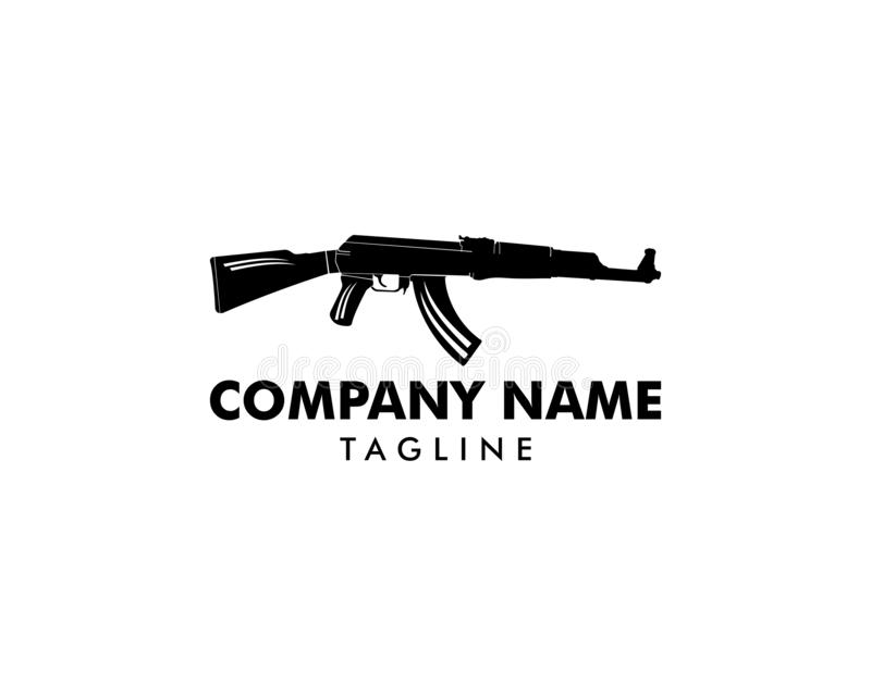 AK 47 Logo Template Design royalty free illustration