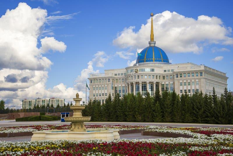 Ak Orda Prezydent pałac Kazachstan fotografia royalty free