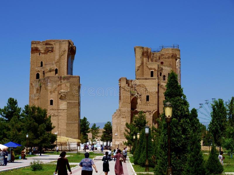 Ak Saray宫殿在乌兹别克斯坦 免版税图库摄影
