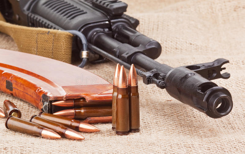 AK47 stock afbeelding