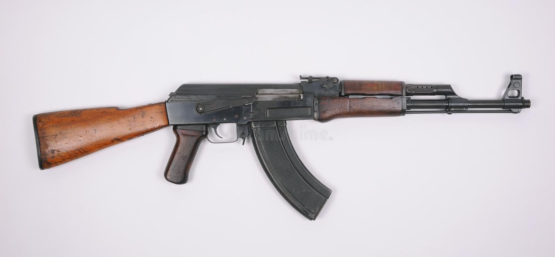 AK47 Assault rifle stock photography