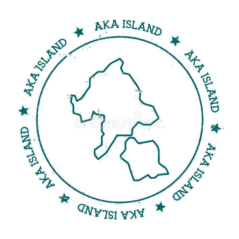 Aka carte de vecteur d'île illustration stock