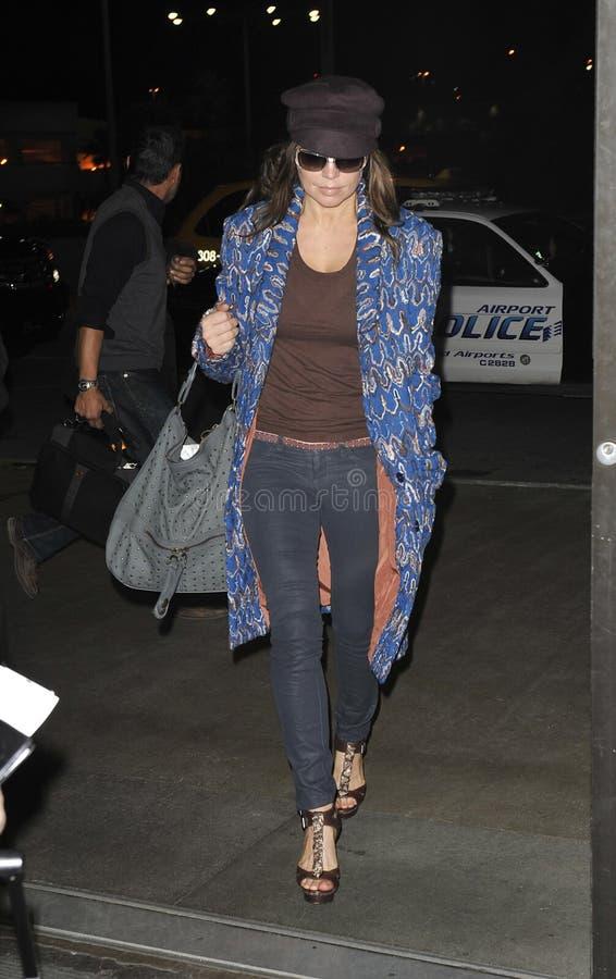 Aka Stacy Ferguson de Fergie del cantante en LAX imagenes de archivo