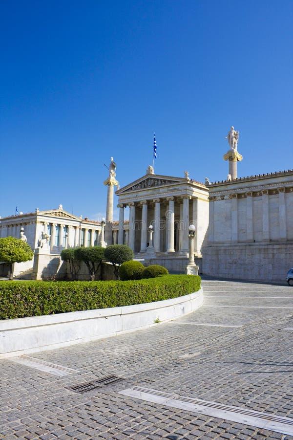 akademi athens greece arkivfoto
