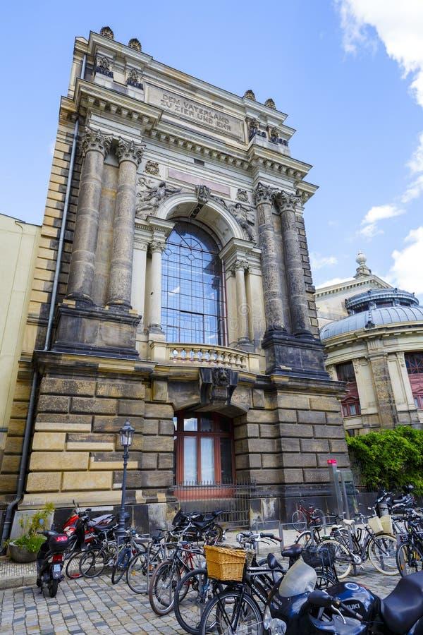 Akademi av konster, Dresden royaltyfria bilder