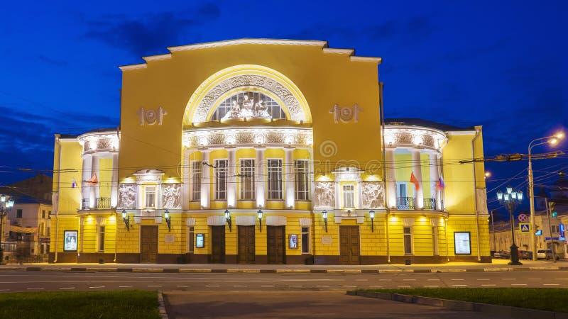 Akademicki dramata Theatre f Volkova noc w Yaroslavl, Rosja zdjęcie royalty free
