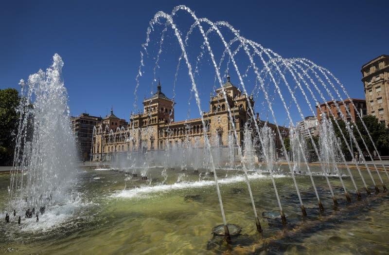 Akademicy De Caballeria Kawaleria akademia stawia czoło plac Zorrilla blisko Campo Grande w Valladolid, Hiszpania obraz royalty free