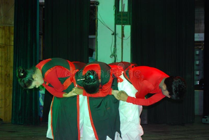 Akademie Tanz-Bangladeschs Shilpakala lizenzfreie stockfotos