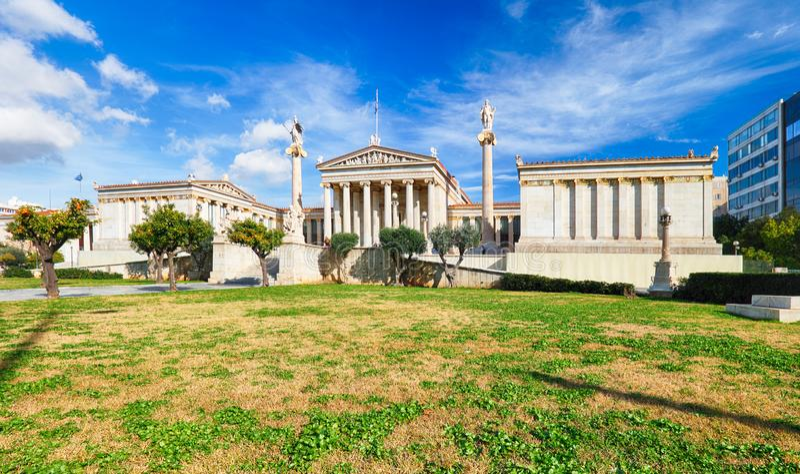 Akademie von Athen, Griechenland stockfotografie