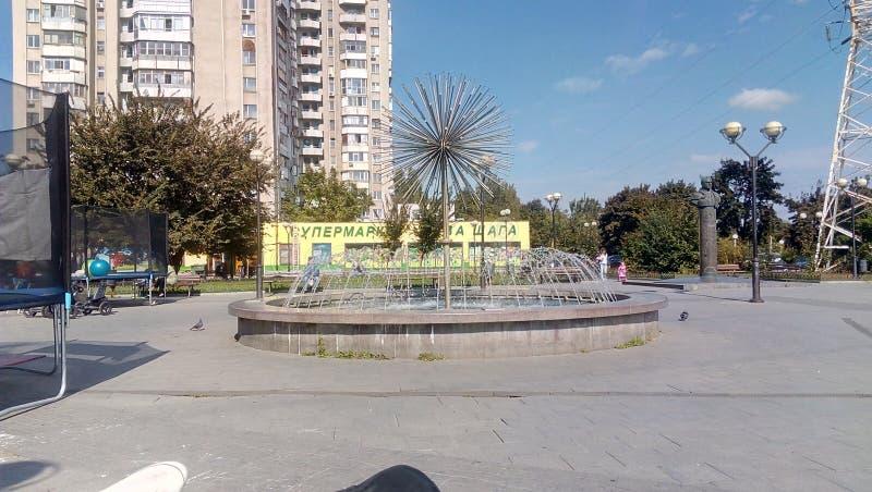 Akademik Gkushko sq Odessa Ukraina fotografia stock