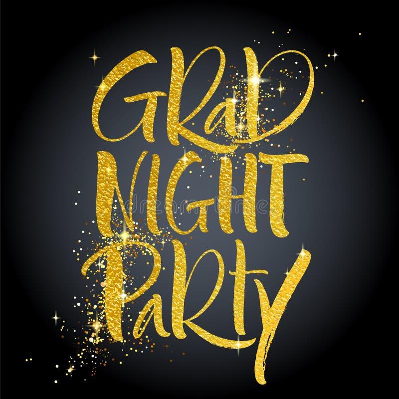 Akademiker bokstäver för nattpartihand royaltyfri illustrationer