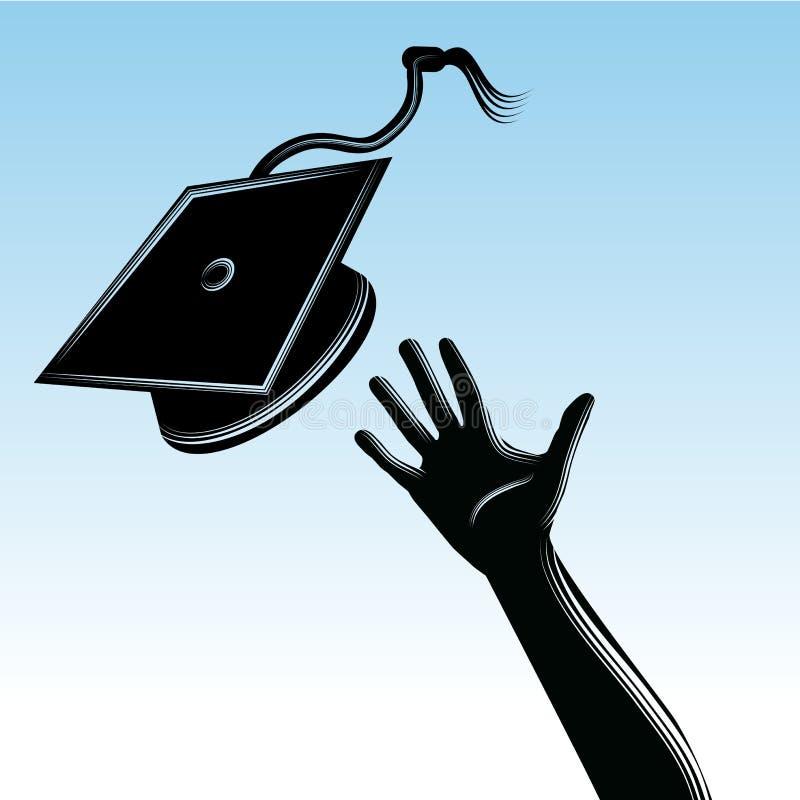 Akademikert lockdugg stock illustrationer