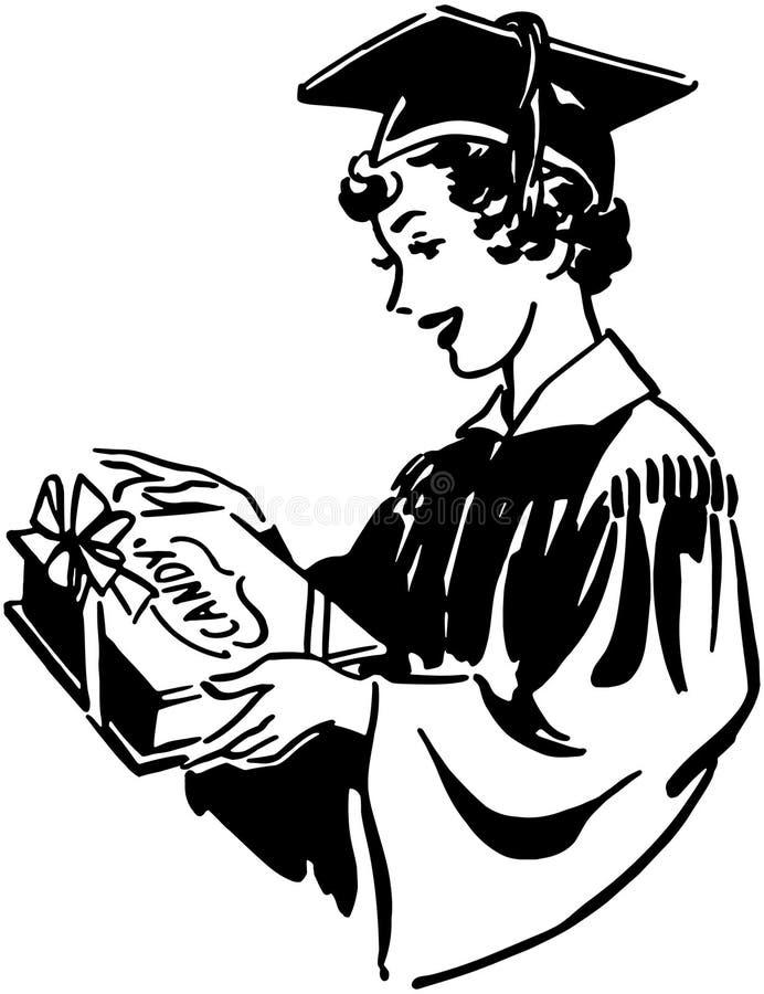 Akademikert med godisen vektor illustrationer