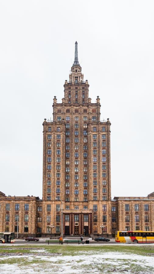 Akademin av vetenskaper i staden av Riga royaltyfria bilder