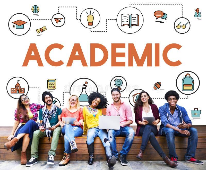 Akademische Wissens-Verbesserungs-Klasse Experiament Concpe stockfoto