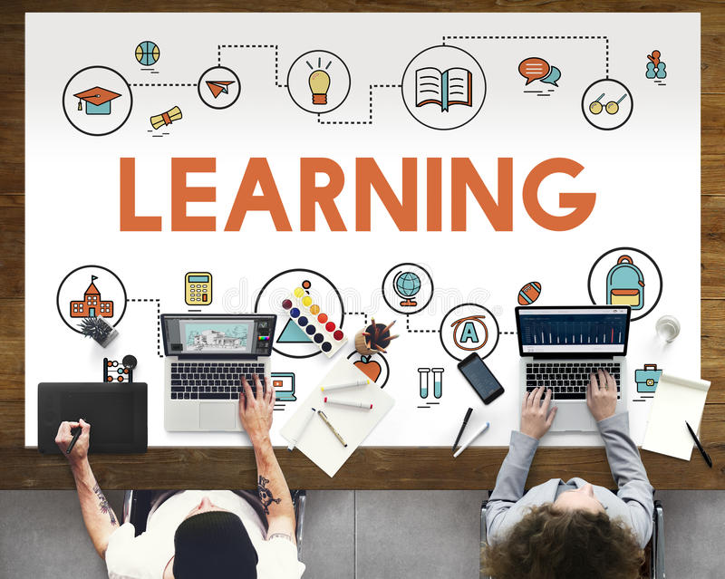 Akademisches Wissens-Verbesserungs-Klassen-Experiment-Konzept lizenzfreies stockbild