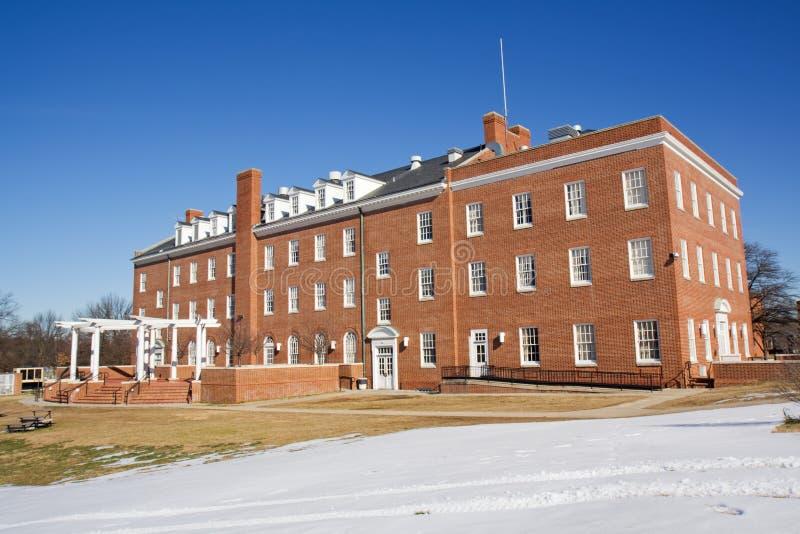 akademisk byggnadsuniversitetsområdeuniversitetar royaltyfri fotografi