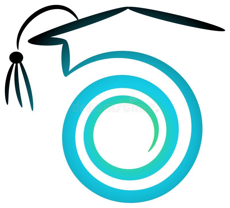 akademisk logo vektor illustrationer